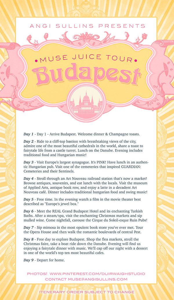 muse juice budapest itenerary